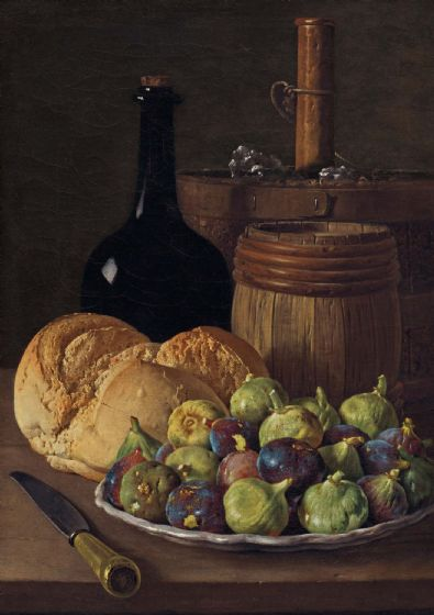 Meléndez, Luiz: Still Life with Figs and Bread. Fine Art Print/Poster. Sizes: A4/A3/A2/A1 (004108)